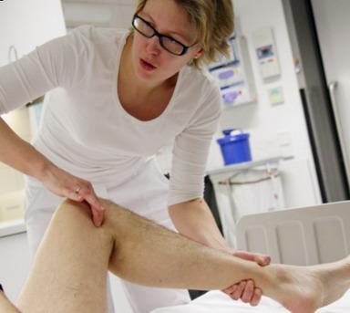 Pacientas ortopedijos klinikoje